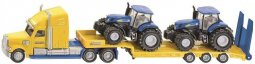 Trailer med last av New Holland traktorer