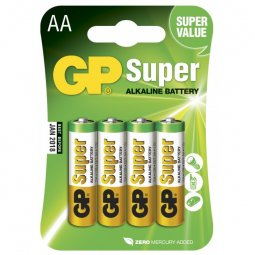 Batteri GP Super Alkaline AA-batterier 4-pack